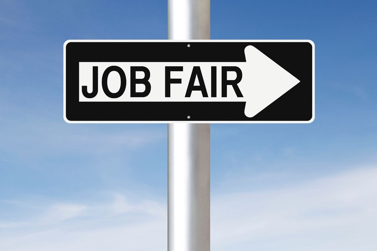 job fair sign post