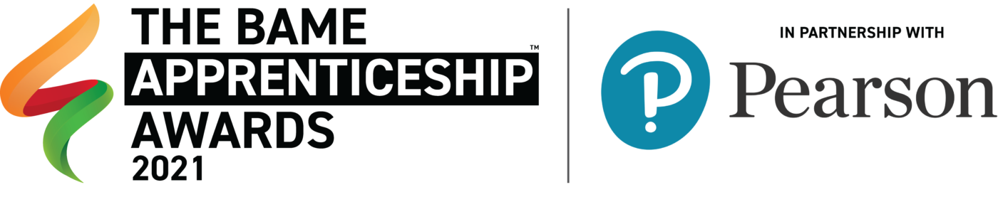 BAME Apprenticeship Awards Logo with Pearson sponsorship
